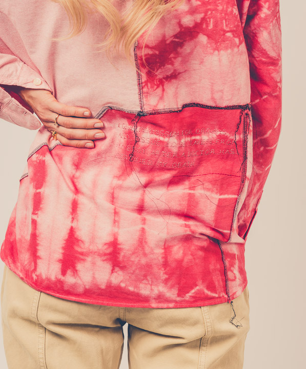 UPCYCLING PATCHWORK BLUSE